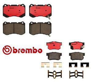 Brembo Front Rear Brake Pads For Acura Tl Type S W Bembo Brake System