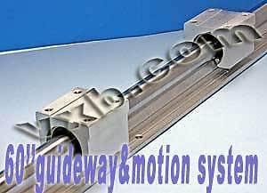 20mm 60 Rail Guideway System W 2 Slide Units Linear Motion 8389