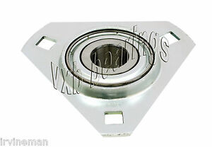 Fhpftz206 18 Flange 3 Bolt Triangle 1 1 8 Inch Ball Bearings Rolling