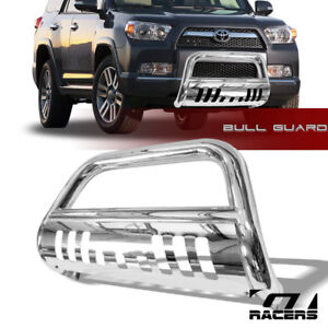 For 2010 2021 Toyota 4runner Chrome Bull Bar Brush Bumper Grill Grille Guard