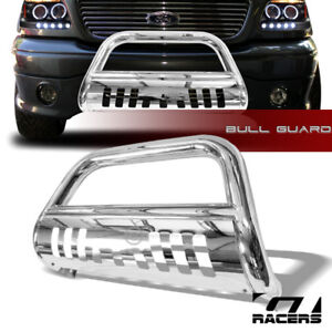 For 1997 2003 F150 1999 2002 Expedition Chrome Bull Bar Push Bumper Grill Grille
