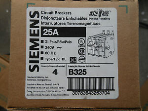 Siemens B325 Circuit Breaker 3pole 25amp 240v Type Bl New Warranty Sale