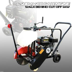 Walk Behind Concrete Cement Floor 14 Cut Off Saw 6 5hp 196cc Gas Engine Power