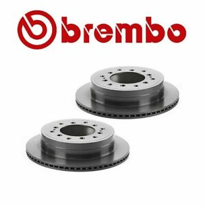 Set Of 2 Brembo Rear Disc Rotors For Lexus Toyota