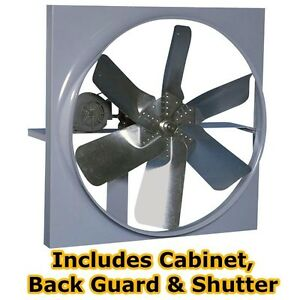 36 Belt Driven Exhast Fan 14 541 Cfm 3 Ph 5 8 2 9 Amps 230 460 Volts