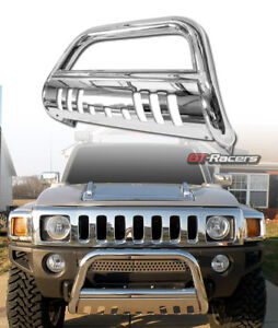 For 2005 2006 2010 Hummer H3 Stainess Chrome Bull Bar Brush Bumper Grille Guard