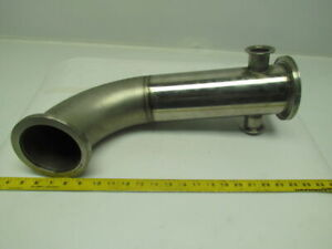 4 90deg Clamp Style Stainless Steel Sanitary Pipe Fitting Weld Assembly