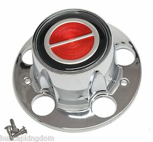 New Bronco Ii Ranger Explorer Wheel Hub Center Cap Chrome Red W Screws
