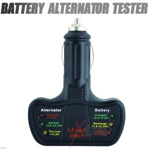New Easy Quick Battery Alternator Tester 12v System Led Cars Trucks 12 Volt
