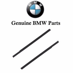 For Bmw E46 323ci 01 06 Set Of 2 Lower Outer Weatherstrips Genuine Gloss Black