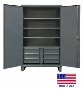 Steel Cabinet Commercial Duty Shelves Drawers 4 6 78 h X 24 d X 48 w