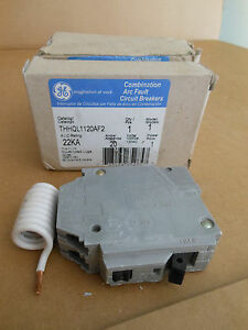 Ge Thhql1120af2 1pole 20amp 22k Aic Rated Arc Fault Circuit Breaker New