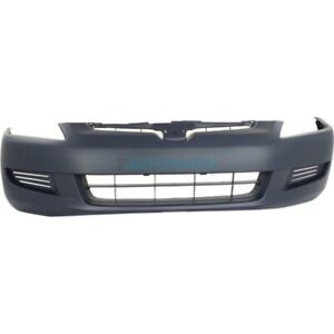 New Front Bumper Cover Primed Fits 2003 2005 Honda Accord Coupe Ho1000211