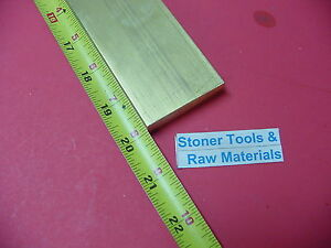 1 2 X 2 C360 Brass Flat Bar 20 Long Solid 500 Plate Mill Stock H02