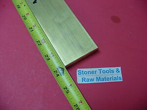 1 2 X 2 C360 Brass Flat Bar 24 Long Solid 50 Plate Mill Stock H02