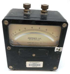 Weston Electrical Instrument Corp Model 433 Ac Amperes Meter 111127 0 50 A