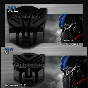 2 New Transformers Autobot Autobots Badges Emblems Gloss Black 3 And 5