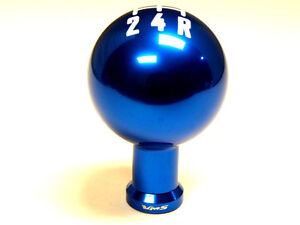 Ford Mustang 5 Speed Manual Threaded Round Ball Shift Knob Boot Retainer Blue