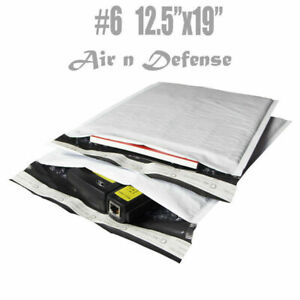 100 6 12 5x19 Poly Bubble Padded Envelopes Mailers Shipping Bags Airndefense