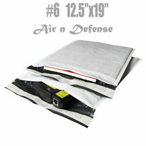 50 6 12 5x19 Poly Bubble Padded Envelopes Mailers Shipping Bags Airndefense
