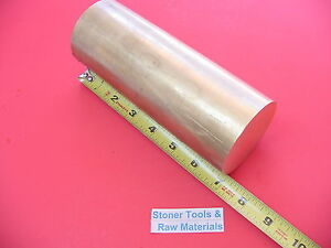 2 1 2 C360 Brass Round Rod 7 Long Solid H02 Lathe Bar Stock 2 50 Diameter X 7