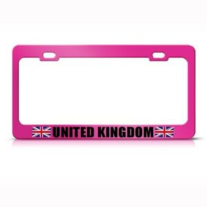 United Kingdom Uk England Flag Pink License Plate Frame