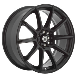 Set 4 17x7 45 5x100 114 3 Konig Control Black Wheels Rims 17 Inch 78102