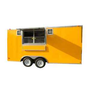 Concession Trailer 8 5 x16 Yellow Vending Bbq Food Catering