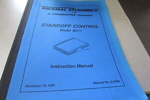 Thermadyne Thermal Dynamics Standoff Control Sc11 Instruction Manual