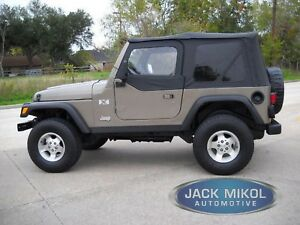 Diamond Black Soft Top For 97 06 Jeep Wrangler With Skins