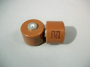 Tdk Uhv 40a Doorknob Capacitor 621k 30kv Used Lot Of 2 Pcs