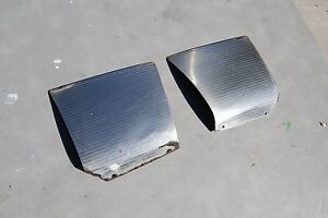 1968 Chrysler Ny L R Front Fender Stainless Gravel Shields Nice Originals