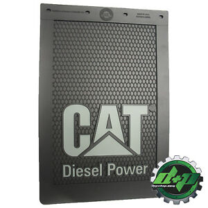 Cat Caterpillar Tractor Gray Grey Semi Diesel Power Mudflap Truck Mud Flap 12x18