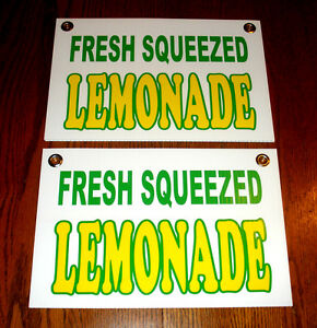 2 Fresh Squeezed Lemonade Coroplast Signs New 8 X 12 Concession Stand