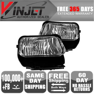 Fits 02 07 Chevrolet Silverado Avalanche Oe Fog Lights Clear Lamps Pair