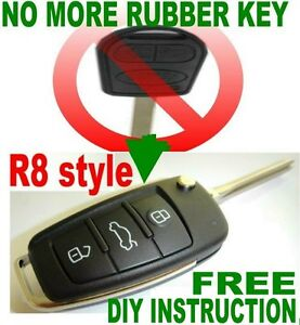 Upgrade Range Rover Rubber Remote To R8 Style Flip Key Remote Chip Transponder