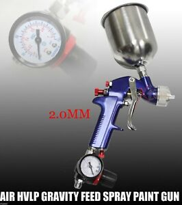2 0mm Hvlp Gravity Feed Spray Paint Gun Gauge Separator