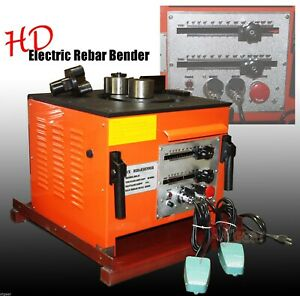 Electric 1 Inch Rebar Bending Bender Two Foot Controls Rb 25 8 Rebar Steel Hd