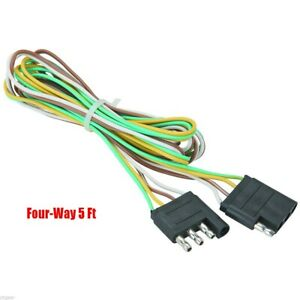 5 Trailer Light Wire Harness 4 Way Wire Flat Connector Trailer Light Extension