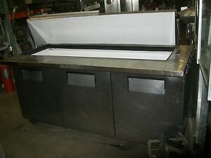 True 6 Ft Mega Sandwich Prep Table new Compressor Board Etc 900 Items On E Bay