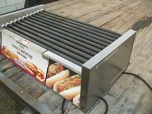 Star Grill Max Pro Hot Dog Roller 50cbu Bun Storage 11 Bars 220v 900 Items