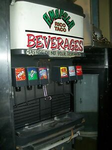 Soda ice Dispensing Machine 6 Heads Complete With Pumpsetc 900 Items On E Bay