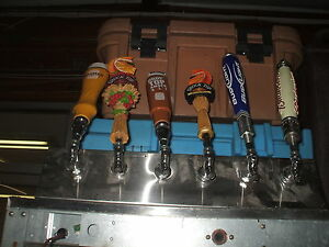 Beer Dispensing Valves One Rail Of 6 Heads With Handles Nice 900 Items On Eba