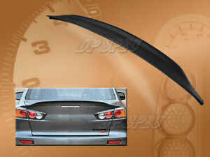 For 08 15 Mitsubishi Lancer Evo 10 X Rear Duck Tail Lip Spoiler Rear Trunk Wing