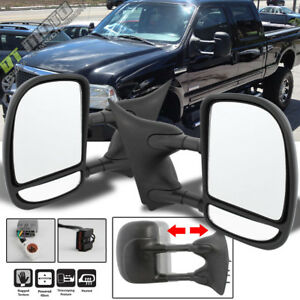 Left Right 99 07 Ford F250 F550 Superduty Telescoping Power Heat Side Tow Mirror