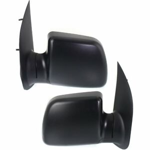 Right Left Side New Mirror Set Of 2 Power Econoline Van Textured Black Ford Pair
