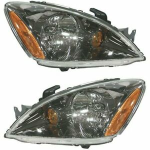 Halogen Headlight Set For 2004 2007 Mitsubishi Lancer Left Right W Bulbs Pair
