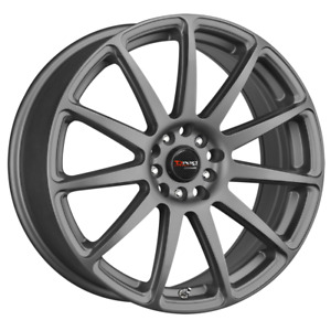 Set 4 17x7 40 5x100 114 3 Drag Dr 66 Grey Wheels rims 17 inch 13124