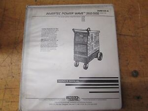 Lincoln Electric Invertec Power Wave 350 500 Service Manual