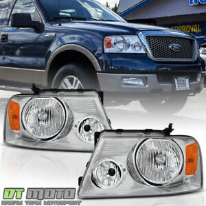 2004 2008 Ford F 150 F150 Pickup Headlights Headlamps Left right Pair 2005 2006